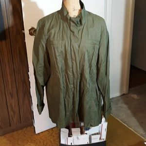 Coldwater Creek 20-22 Olive Rain/Bomber Jacket